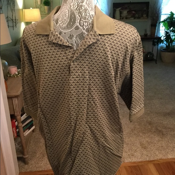 6912d49f8 Cypress Links Goft Wear Shirts | Dark Light Khaki Polo Shirt Has ...
